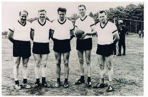First fistball players